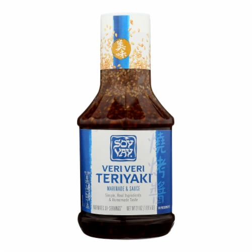Soy Vay Veri Teriyaki Marinade and Sauce - Case of 6 - 21 Fl oz. Perspective: front