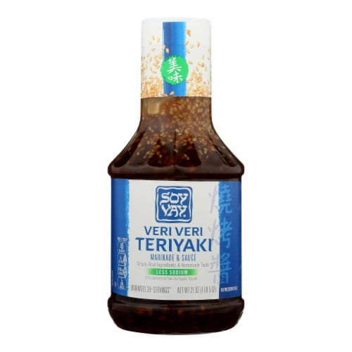 Soy Vay Veri Teriyaki Marinade and Sauce - Case of 6 - 21 oz. Perspective: front