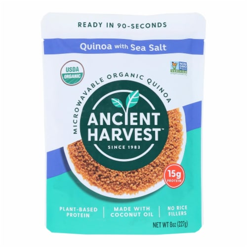Ancient Harvest Organic Quinoa - with Sea Salt - Case of 12 - 8 oz Perspective: front