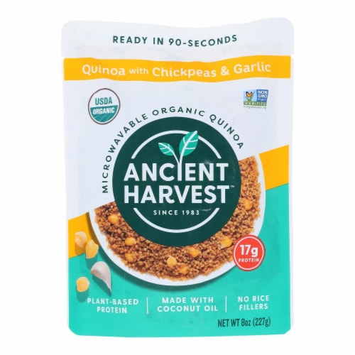 Ancient Harvest Organic Quinoa - with Chickpeas & Garlic - Case of 12 - 8 oz Perspective: front