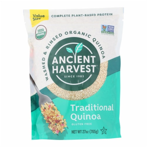 Ancient Harvest Quinoa - Organic - Traditional White - Case of 6 - 27 oz Perspective: front