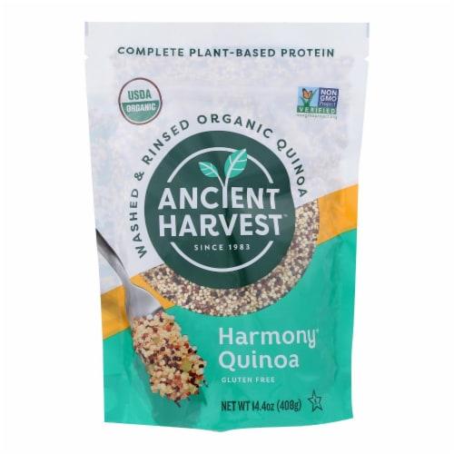 Ancient Harvest Organic Quinoa - Tri-Color Harmony Blend - 14.4 oz Perspective: front