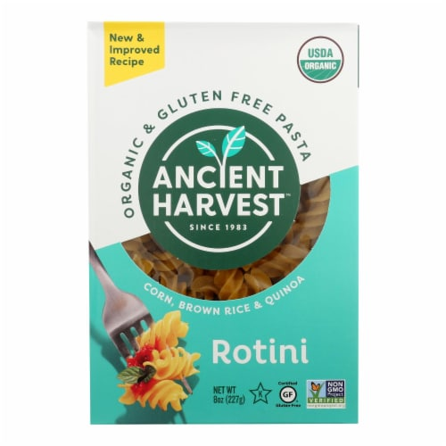Ancient Harvest Organic Gluten Free Quinoa Supergrain Pasta - Rotelle - Case of 12 - 8 oz Perspective: front