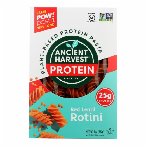 Ancient Harvest Pasta - Supergrain - Red Lentil and Quinoa Rotelle - 8 oz - case of 6 Perspective: front