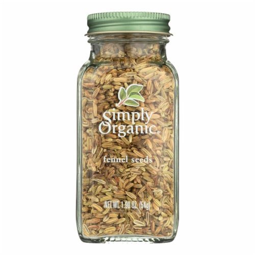 Simply Organic Fennel Seed - Case of 6 - 1.9 oz. Perspective: front