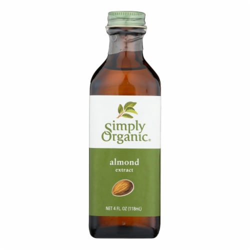 Simply Organic Almond Extract - Organic - 4 oz Perspective: front