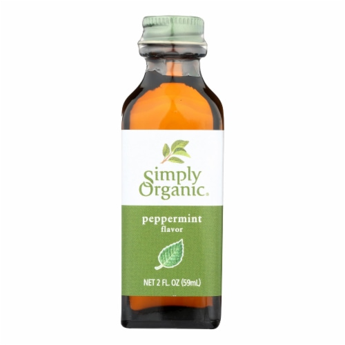 Simply Organic Peppermint Flavor - Organic - 2 oz Perspective: front