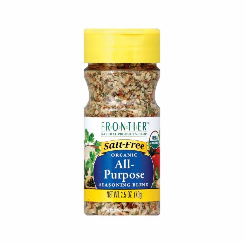 Frontier Herb All Purpose Seasoning - Salt Free - Case of 6 - 2.5 oz. Perspective: front