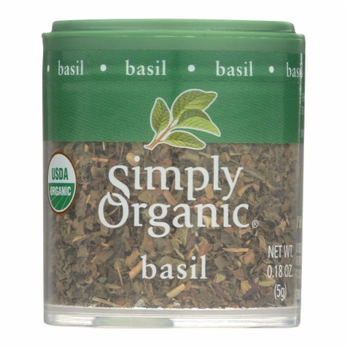 Simply Organic Basil Leaf - Organic - Sweet - Cut and Sifted - .18 oz - Case of 6 Perspective: front