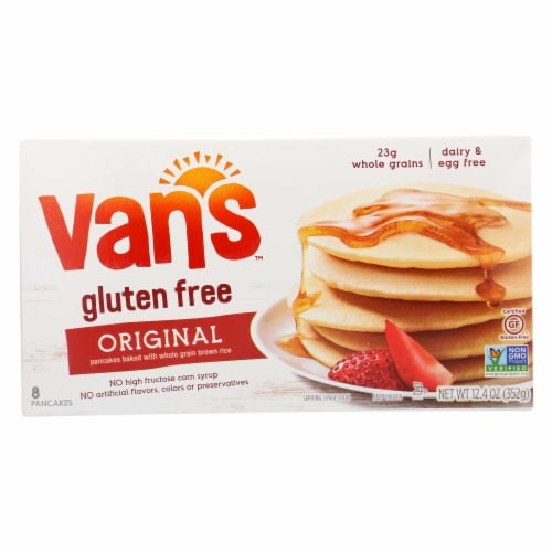 Vans Natural Foods Totally Natural Gluten Free Pancake, 12.4 Ounce -- 12 per case Perspective: front