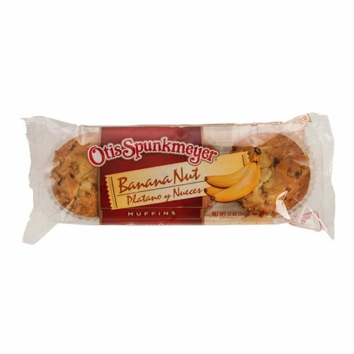Otis Spunkmeyer Delicious Essentials Banana Nut Muffin, 4 Ounce -- 24 per case. Perspective: front