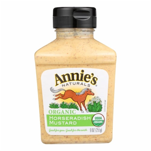 Annie's Naturals Organic Horseradish Mustard - Case of 12 - 9 oz. Perspective: front