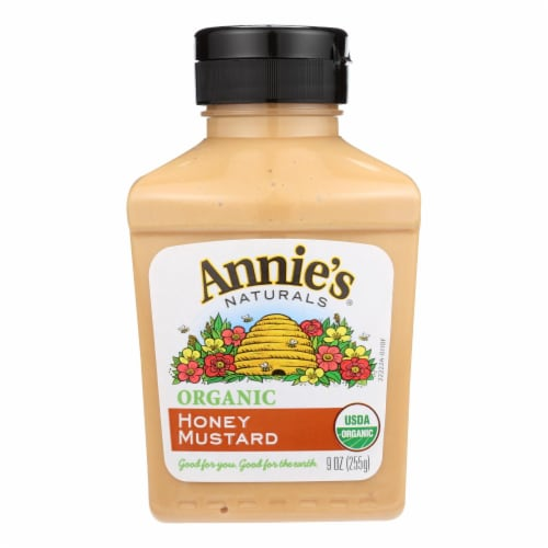 Annie's Naturals Organic Honey Mustard - Case of 12 - 9 oz. Perspective: front