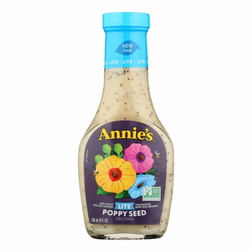 Annie's Naturals Lite Dressing Poppy Seed - Case of 6 - 8 fl oz. Perspective: front