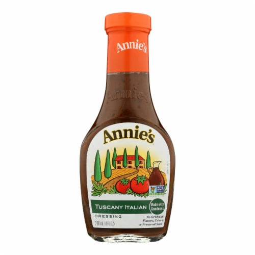 Annie's Naturals Dressing Tuscany Italian - Case of 6 - 8 fl oz. Perspective: front