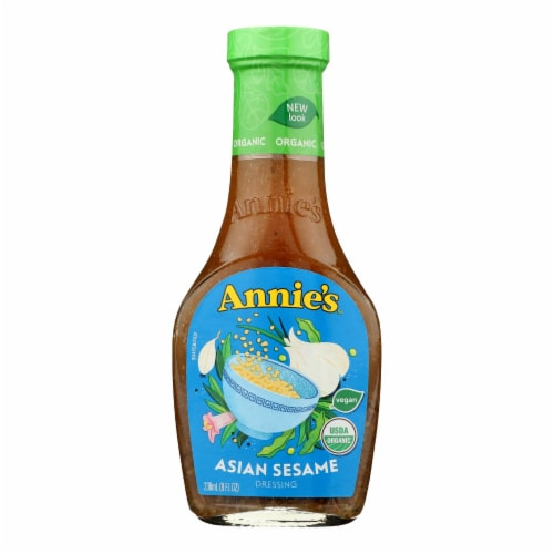 Annie's Naturals Organic Dressing Asian Sesame - Case of 6 - 8 fl oz. Perspective: front