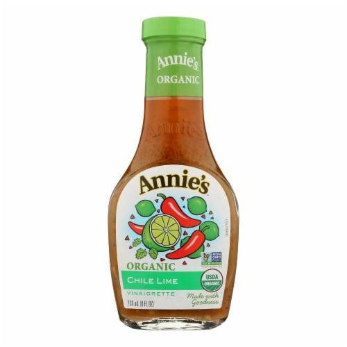 Annie's Naturals Vinaigrette Organic Chile Lime - Case of 6 - 8 fl oz. Perspective: front