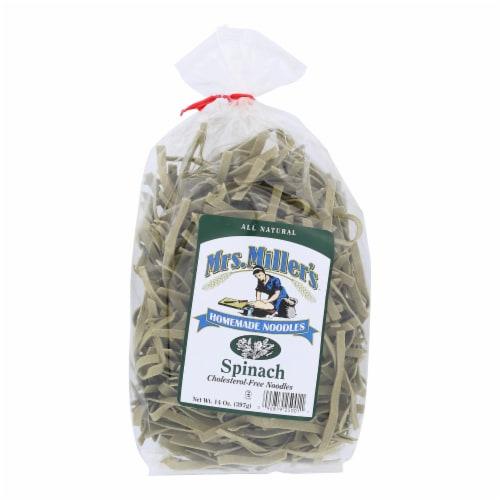 Mrs. Miller's Homemade Noodles - Spinach Noodles - Case of 6 - 14 oz. Perspective: front