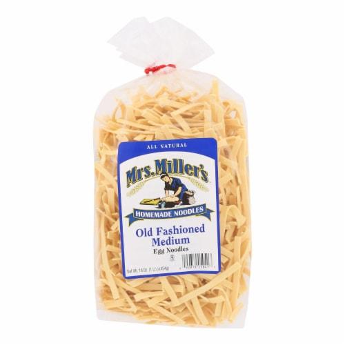 Mrs. Miller's Homemade Noodles - Old Fashioned Egg Noodles - Case of 6 - 16 oz. Perspective: front