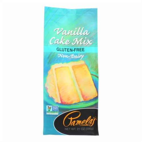 Pamela's Products - Vanilla Cake - Mix - Case of 6 - 21 oz. Perspective: front