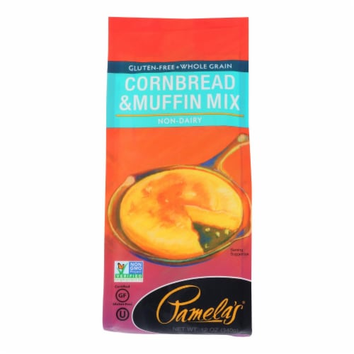 Pamela's Products - Cornbread and Muffin - Mix - Case of 6 - 12 oz. Perspective: front