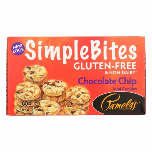 Pamela's Products - Mini Cookies - Chocolate Chip - Case of 6 - 7 oz. Perspective: front