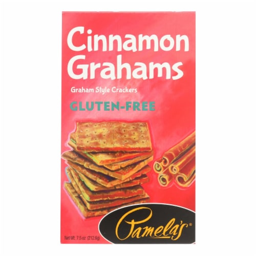 Pamela's Products - Grahams Style Crackers - Cinnamon - Case of 6 - 7.5 oz. Perspective: front