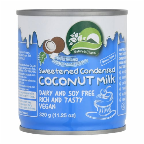 Nature's Charm Sweetened Condensed Coconut Milk - Case of 6 - 11.25 Fl oz. Perspective: front