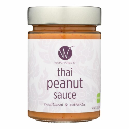 Watcharee'S Thai Peanut Sauce  - Case of 6 - 12.8 OZ Perspective: front