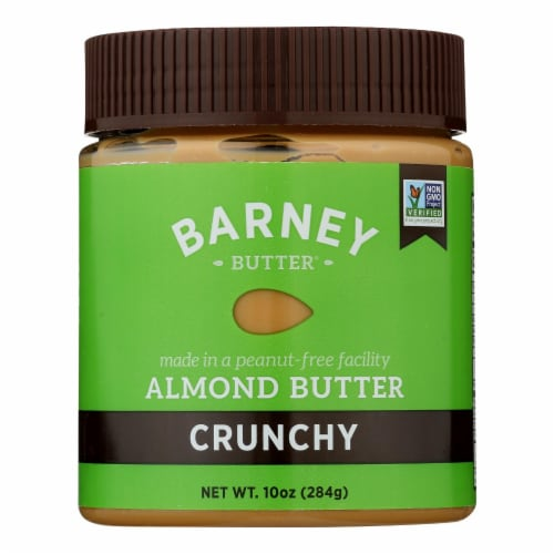 Barney Butter - Almond Butter - Crunchy - Case of 6 - 10 oz. Perspective: front