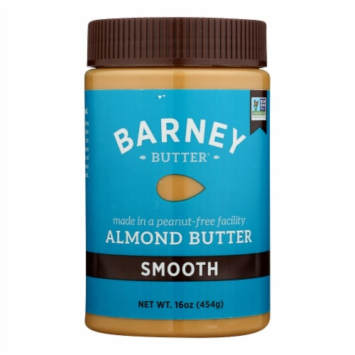 Barney Butter - Almond Butter - Smooth - Case of 6 - 16 oz. Perspective: front