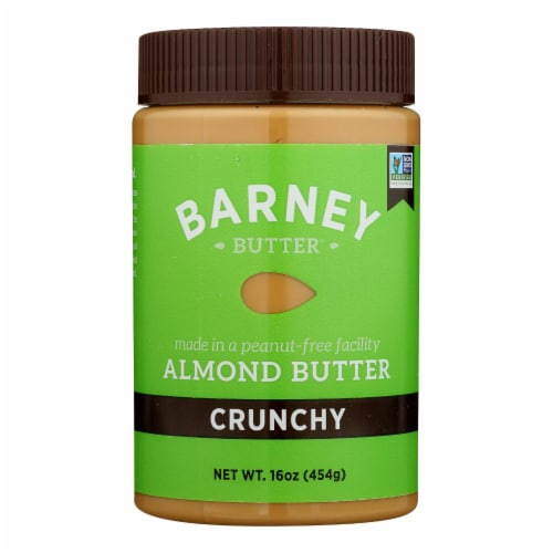 Barney Butter - Almond Butter - Crunchy - Case of 6 - 16 oz. Perspective: front