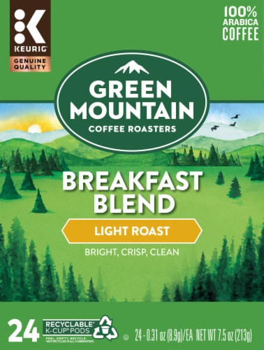 Green Mountain Coffee Breakfast Blend Coffee K-Cup Pods Perspective: front