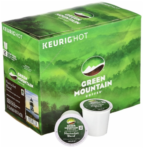 Green Mountain Nantucket Blend Medium Roast Coffee K-Cup Pods (4 Pack) Perspective: front