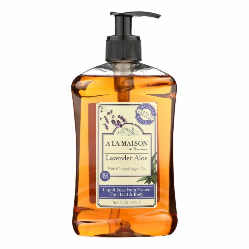 A La Maison - French Liquid Soap - Lavender Aloe - 16.9 fl oz Perspective: front