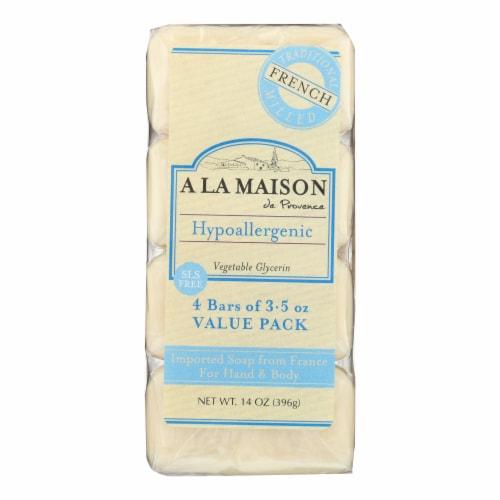 A La Maison - Bar Soap - Unscented Value Pack - 3.5 oz Each / Pack of 4 Perspective: front