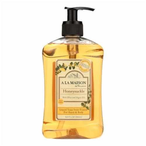 A La Maison - French Liquid Soap - Honeysuckle - 16.9 oz Perspective: front