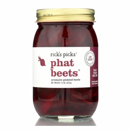 Rick's Picks Phat Beets Pickles - Case of 6 - 15 oz. Perspective: front