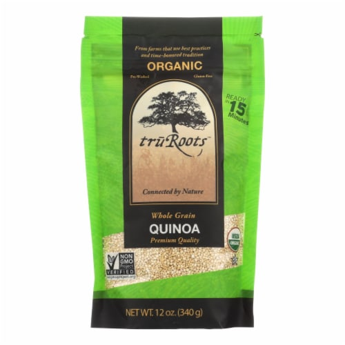 Truroots Organic Quinoa - Whole Grain - Case of 6 - 12 oz. Perspective: front