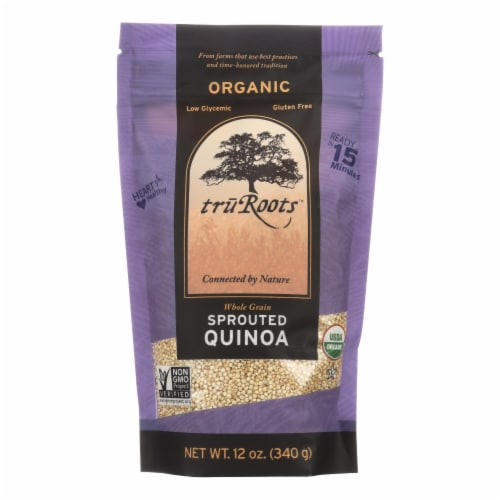 Truroots Organic Trio Quinoa - Accents Sprouted - Case of 6 - 12 oz. Perspective: front