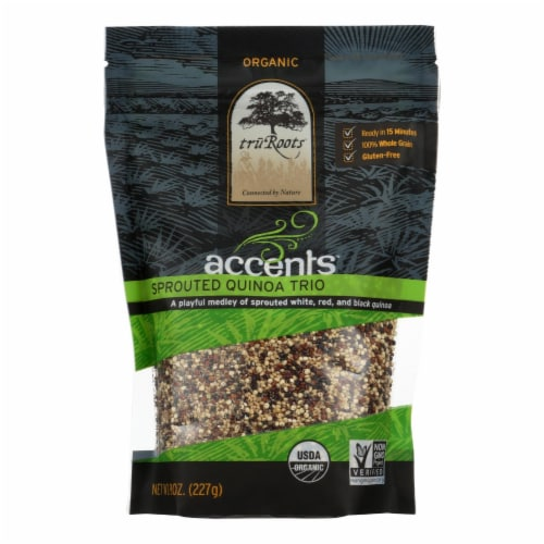 Truroots Organic Trio Quinoa - Accents Sprouted - Case of 6 - 8 oz. Perspective: front