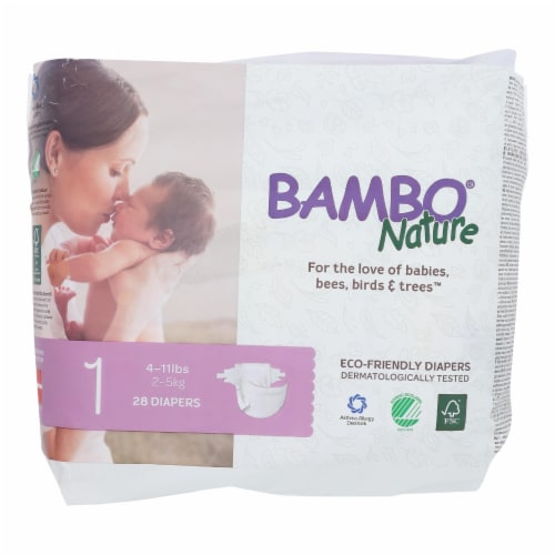 Bambo Nature Eco-Friendly Diapers  - Case of 6 - 28 CT Perspective: front