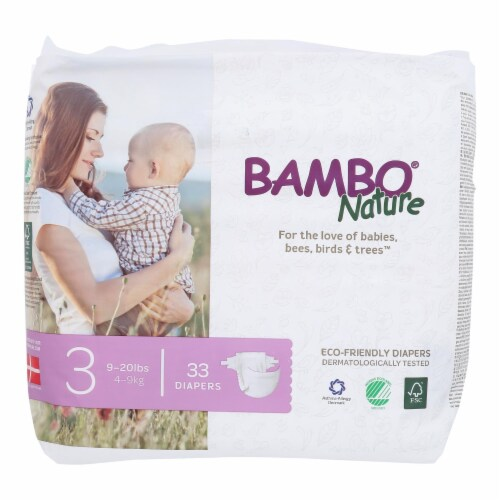 Bambo Nature - Diapers Size 3 9-20 Lbs - Case of 6 - 33 CT Perspective: front