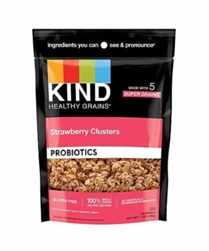 Kind Healthy Grains Strawberry Clusters Probiotics, 7 oz (Pack of 6) Perspective: front
