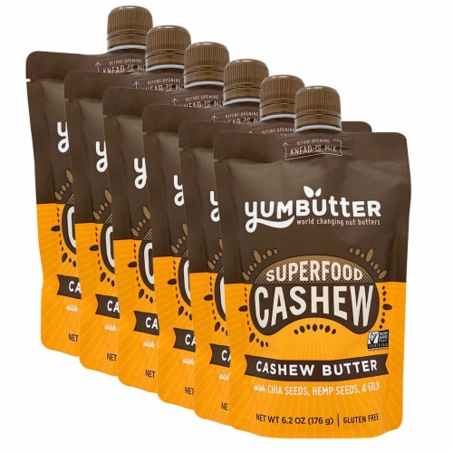 Yumbutter Superfood Cashew Butter Squeeze Pouch Perspective: front