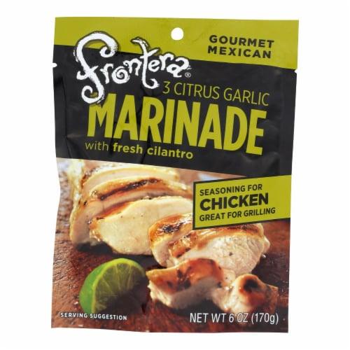 Frontera Foods Three Citrus Garlic Marinade - Garlic Marinade - Case of 6 - 6 FL oz. Perspective: front