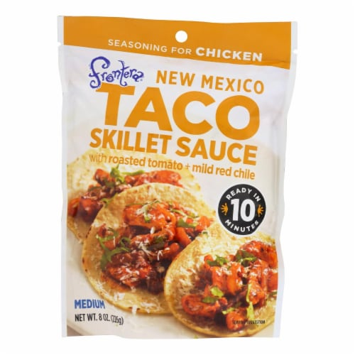 Frontera Foods New Mexico Taco Skillet Sauce - New Mexico - Case of 6 - 8 oz. Perspective: front