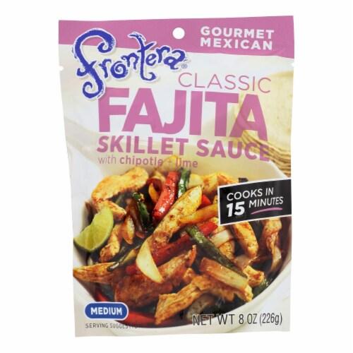 Frontera Foods Classic Fajita Skillet Sauce - Classic Fajita - Case of 6 - 8 oz. Perspective: front