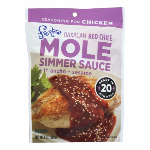 Frontera Foods Simmer Sauce - Oaxacan Red Chile Mole - w Ancho and Sesame - 8oz - case of 6 Perspective: front