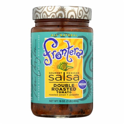 Frontera Foods Double Roasted Tomato Salsa - Tomato Salsa - Case of 6 - 16 oz. Perspective: front